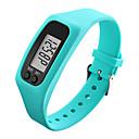 رخيصةأون الأساور الذكية-رجالي نسائي ساعة رياضية ساعة المعصم ساعة رقمية رقمي مطاط أسود / الأبيض / أزرق عداد الخطى LCD كوول رقمي أحمر أخضر أزرق / غني بالألوان