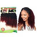 povoljno Ekstenzije za kosu-8 paketića Brazilska kosa Kinky Curly Duboko Val Virgin kosa Ombre 8-14 inch Ombre Isprepliće ljudske kose Proširenja ljudske kose / 10A