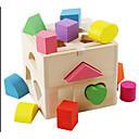 povoljno Fleksibilne LED svjetlosne trake-Drvene puzzle Drveni modeli Oblikujte igračku za sortiranje Noviteti drven Dječaci Djevojčice Igračke za kućne ljubimce Poklon