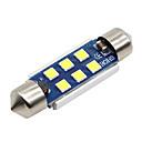 رخيصةأون أضواء السيارة الداخلية-SO.K 4PCS T11 / 42mm سيارة لمبات الضوء 3 W SMD 5730 400 lm LED أضواء الداخلية
