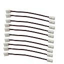 ieftine Proiectoare LED-10buc / bandă de ambalaj pentru bandă cu bandă de lipit fără sudură în jos conector 2pin conductor cu bandă de ghidare pentru lățimea de 8mm 3528 2835 benzi flexibile flexibile pentru o singură culoar