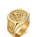 Недорогие Кольца-Муж. Заявление кольцо для большого пальца Золотой Позолота Металл цвета желтого золота Дамы На заказ Старинный Свадьба Для вечеринок Бижутерия Любовь фамильный герб