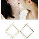 cheap Earrings-Women's Drop Earrings Hoop Earrings Ladies Earrings Jewelry Gold / Black / Silver For Wedding Party Daily Casual 1pc