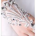 ieftine Mănuși & Mănuși 1 deget-Dantelă Lungime Încheietură Mănușă Mănuși de Mireasă / Mănuși de Party / Seară Cu Piatră Semiprețioasă