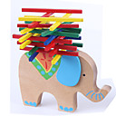 Stacking Game Toys Stacking Tumbling Tower Toys Balance Novelty Elephant Animal Wood Classic Cartoon 1 Pieces Girls' Boys' Gift