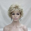 ieftine Imbracaminte & Accesorii Căței-Peruci Sintetice Buclat Buclat Cu breton Perucă Blond Scurt Blond Păr Sintetic Pentru femei Blond