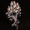 povoljno Maske/futrole za Galaxy A seriju-Žene Broševi Cvijet dame Umjetno drago kamenje Opal Broš Jewelry Zlato Za Party Kauzalni