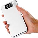 hesapli Erkek Saatleri-10000 mah güç bankası harici pil şarj 5 v 1a / 2a çift usb portu / el feneri / kablo ile / çoklu çıkış lcd ekran