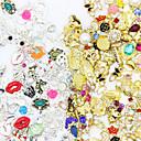 رخيصةأون المكياج & العناية بالأظافر-50pcs مجوهرات الأظافر أحجار الراين من أجل فن الأظافر تجميل الأظافر والقدمين مناسب للبس اليومي برّاق / معدني / موضة / مجوهلرات الأظافر