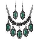 رخيصةأون أقراط-فيروز مجموعة مجوهرات أساسي الأقراط مجوهرات أخضر من أجل مناسب للبس اليومي