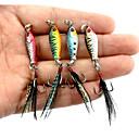 ieftine Momeală Pescuit-4 pcs Δόλωμα Momeală Oscilantă Momeală metalică Scufundare Rapidă Bass Păstrăv Ştiucă Pescuit mare Aruncare Momeală Filare Lead MetalPistol / Pescuit la Oscilantă / Pescuit de Apă Dulce