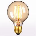 رخيصةأون جوارب-1PC 60 W E26 / E27 G80 أبيض دافئ 2300 k مكتب  /  الأعمال / ديكور المتوهجة خمر اديسون ضوء لمبة 220-240 V