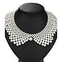 ieftine Colier la Modă-Perle Guler femei Vintage Euramerican Perle Imitație de Perle Aliaj Alb Coliere Bijuterii 1 buc Pentru Nuntă Petrecere Zi de Naștere Zilnic Mascaradă Petrecere Logodnă