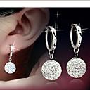 ieftine Cercei-Cercei Lever Back Cercei femei Plastic cercei Bijuterii Argintiu Pentru Nuntă Mascaradă Petrecere Logodnă Bal Promisiune
