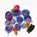 رخيصةأون أدوات الحمام-6PCS / مجموعة غطاء سيليكون عالمية ساران غطاء وعاء وتمتد الغذاء سيليكون عموم المطبخ فراغ غطاء سداده لون عشوائي