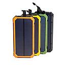 ieftine Acumulatoare-panou de energie solară banc impermeabil 16000mah încărcător solar porturi dual usb externe încărcător powerbank pentru smartphone cu lumină led