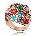 ieftine Cabluri de Adaptor AC & Curent-Pentru femei Inel de declarație Zirconiu Cubic Auriu Zirconiu Aliaj femei Modă Plin de Culoare Nuntă Petrecere Bijuterii