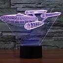 povoljno Smart Lights-7 boja promjena 3d Trek zvijezda Battleship svjetla šarene Led Ukrasna svjetlo vizualno atmosfera na dodir prekidača svjetla