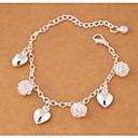 ieftine Brățări-Pentru femei Brățări cu Talismane Inimă femei Modă Aliaj Bijuterii brățară Argintiu Pentru Petrecere