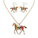 ieftine Seturi de Bijuterii-Pentru femei Seturi de bijuterii Animal femei Lux Design Unic Stil Atârnat Hip-Hop cercei Bijuterii Auriu / Argintiu Pentru Absolvire Mulțumesc Afaceri Zilnic Casual În aer liber