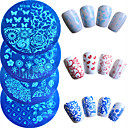 7pcs/Set Nail Art Tool Nail DIY Tools Nail Painting Tools Template Fashionable Design nail art Manicure Pedicure Stylish / Embossed / Pattern