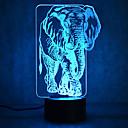 povoljno LED noćna rasvjeta-1 kom. 3D noćno svjetlo USB Vodootporno / Szenzor / Zatamnjen LED / Suvremena suvremena