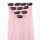 ieftine Extensii de Păr-Neitsi Clasic Păr Sintetic 18 inch Extensie de păr Cu Clape 1pack Pentru femei Zilnic