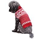 رخيصةأون لعب-قط كلب المعاطف البلوزات عيد الميلاد الشتاء ملابس الكلاب أحمر كوستيوم الاكريليك وألياف ندفة ثلجية موضة عيد الميلاد XXS XS S M