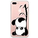 povoljno iPhone maske-Θήκη Za Apple iPhone X / iPhone 8 Plus / iPhone 8 Prozirno / Uzorak Stražnja maska Crtani film / Panda Mekano TPU