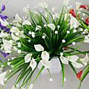 povoljno Umjetno cvijeće-1bunch umjetna mini ljiljan svila cvijet simulacija calla cvijet buket lažna trava vodene biljke za novi dom soba ukras periva