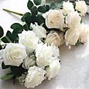 رخيصةأون أزهار اصطناعية-زهور اصطناعية 1 فرع الطراز الأوروبي الورود أزهار الطاولة