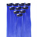 ieftine Costume Cosplay-Neitsi Clasic Păr Sintetic 18 inch Extensie de păr Cu Clape 1pack Pentru femei Zilnic