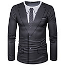 povoljno Muške jakne-Majica s rukavima Muškarci - Ulični šik Dnevno / Sport 3D Okrugli izrez Print Crn / Dugih rukava