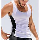 رخيصةأون ساعات ذكية-رجالي الرياضة رياضي Active بقع كنزة, ألوان متناوبة نحيل أسود و أبيض / بدون كم / الصيف
