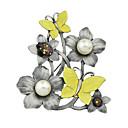 ieftine Prosoape & Capoate-Pentru femei Broșe femei De Bază Broșă Bijuterii Galben Pentru Casual