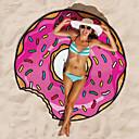 ieftine Prosoape & Capoate-1pc rundă dulce gigant nou plaja prosop hamburger pop șaluri pătură imprimat duș mat pizza fierbinte moda