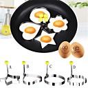 povoljno Kuhijnski alati-4pcs novi dizajn četiri oblika od nehrđajućeg čelika pržena jaja oblikovatelj palačinka kalup kalup za kuhanje alata