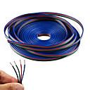abordables Autres Outils Electriques-kwb 10m câble à rallonge rgb à 4 broches pour 5050 3528 couleur changeante flexible bande led
