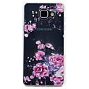 رخيصةأون حافظات / جرابات هواتف جالكسي A-غطاء من أجل Samsung Galaxy A3 (2017) / A5 (2017) / A7 (2017) شفاف / نموذج غطاء خلفي زهور ناعم TPU