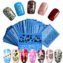 povoljno Šminka i njega noktiju-48pcs/set Naljepnica za prijenos vode / Naljepnica s noktima Nail Decals / Nail Art DIY alat dodatak Nail Art Design