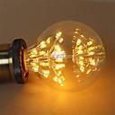 ieftine Ustensile de Gătit-1 buc 3 W Bec Filet LED 200 lm E26 / E27 G95 47 LED-uri de margele COB Decorativ Înstelat Alb Cald 85-265 V / RoHs