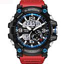 voordelige Merk Horloge-Heren Unisex Sporthorloge Modieus horloge Militair horloge Japans Digitaal Silicone Zwart / Blauw / Rood 30 m Waterbestendig Alarm Kalender Analoog-Digitaal Khaki Zwart / Blauw Zwart / Zilver Twee