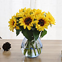 cheap Artificial Flowers-6 Branches Sunflower Artificial Flowers Home Decoration Wedding Supply
