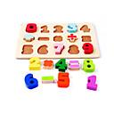 povoljno Šminka i njega noktiju-jigsaw zagonetke Drvene puzzle Građevni blokovi DIY igračke Kvadrat Drvo