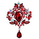 ieftine Broșe-Pentru femei Fete Broșe Coroane Personalizat Modă Euramerican Ștras Broșă Bijuterii Albastru Negru Curcubeu Pentru Nuntă Petrecere Ocazie specială Zilnic