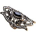 billige Ringer-Dame Statement Ring Ring tommelfingerring Safir Rød Grønn Blå Glass Obsidian Legering Geometrisk Form Statement damer Personalisert Fest jubileum Smykker geometriske Solitaire Marquise magi