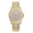ieftine Ceasuri Damă-Pentru femei Ceas de Mână ceas de aur Quartz Oțel inoxidabil Argint / Auriu Cool Analog Clasic Casual Modă - Auriu Argintiu Trandafiriu Un an Durată de Viaţă Baterie / SSUO 377