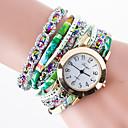 preiswerte Armband-Damen Uhr Armband-Uhr Diamond Watch Uhr wickeln Quartz Gestepptes PU - Kunstleder Schwarz / Weiß / Blau Kreativ / Analog damas Simulierte Diamant-Uhr Einzigartige kreative Uhr Rot Grün Blau