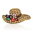 povoljno Broševi-Žene Broševi Moda Euramerican Umjetno drago kamenje Broš Jewelry Zlato Za Vjenčanje Party Special Occasion Dnevno