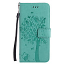 رخيصةأون أغطية أيفون-غطاء من أجل Apple iPhone X / iPhone 8 Plus / iPhone 8 محفظة / حامل البطاقات / مع حامل غطاء كامل للجسم قطة / شجرة قاسي جلد PU